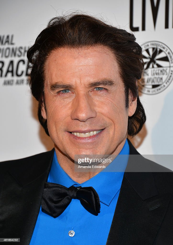 Actor <a gi-track='captionPersonalityLinkClicked' href=/galleries/search?phrase=John+Travolta&family=editorial&specificpeople=178204 ng-click='$event.stopPropagation()'>John Travolta</a> arrives at the 12th Annual 'Living Legends Of Aviation' Awards at The Beverly Hilton Hotel on January 16, 2015 in Beverly Hills, California.