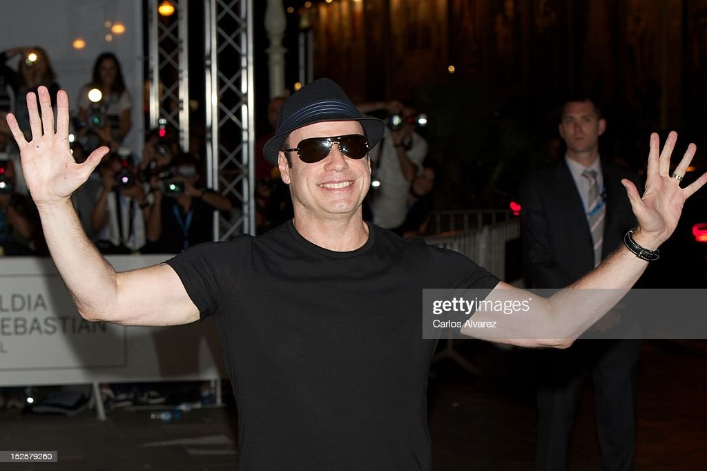 Actor <a gi-track='captionPersonalityLinkClicked' href=/galleries/search?phrase=John+Travolta&family=editorial&specificpeople=178204 ng-click='$event.stopPropagation()'>John Travolta</a> arrives at the Maria Cristina Hotel during 60th San Sebastian International Film Festival on September 22, 2012 in San Sebastian, Spain.