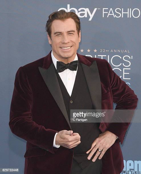 Actor John Travolta arrives at the The 22nd Annual Critics' Choice Awards at Barker Hangar on December 11 2016 in Santa Monica California