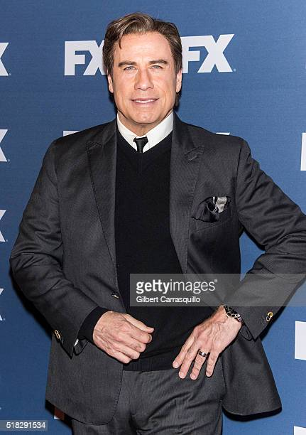 Actor John Travolta attends FX Networks Upfront screening of 'The People v OJ Simpson American Crime Story' at AMC Empire 25 theater on March 30 2016...