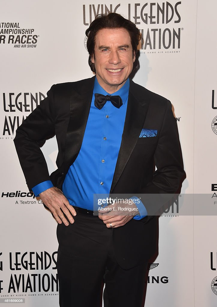 Actor <a gi-track='captionPersonalityLinkClicked' href=/galleries/search?phrase=John+Travolta&family=editorial&specificpeople=178204 ng-click='$event.stopPropagation()'>John Travolta</a> attends the 12th Annual 'Living Legends of Aviation' at The Beverly Hilton Hotel on January 16, 2015 in Beverly Hills, California.