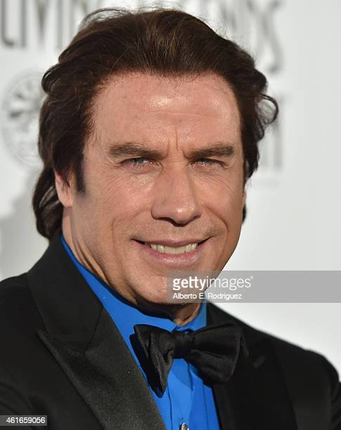 Actor John Travolta attends the 12th Annual 'Living Legends of Aviation' at The Beverly Hilton Hotel on January 16 2015 in Beverly Hills California