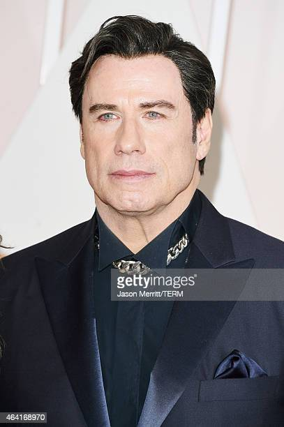 Actor John Travolta attends the 87th Annual Academy Awards at Hollywood Highland Center on February 22 2015 in Hollywood California