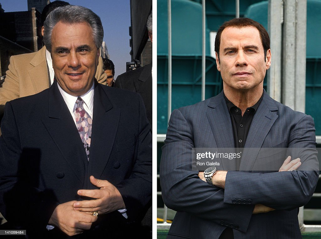In this composite image a comparison has been made between <a gi-track='captionPersonalityLinkClicked' href=/galleries/search?phrase=John+Gotti&family=editorial&specificpeople=240250 ng-click='$event.stopPropagation()'>John Gotti</a> (L) and actor <a gi-track='captionPersonalityLinkClicked' href=/galleries/search?phrase=John+Travolta&family=editorial&specificpeople=178204 ng-click='$event.stopPropagation()'>John Travolta</a>. <a gi-track='captionPersonalityLinkClicked' href=/galleries/search?phrase=John+Travolta&family=editorial&specificpeople=178204 ng-click='$event.stopPropagation()'>John Travolta</a> will reportedly play <a gi-track='captionPersonalityLinkClicked' href=/galleries/search?phrase=John+Gotti&family=editorial&specificpeople=240250 ng-click='$event.stopPropagation()'>John Gotti</a> in a film biopic entitled 'Gotti: In the Shadow of My Father' directed by Barry Levinson. MELBOURNE, AUSTRALIA - NOVEMBER 19: Actor <a gi-track='captionPersonalityLinkClicked' href=/galleries/search?phrase=John+Travolta&family=editorial&specificpeople=178204 ng-click='$event.stopPropagation()'>John Travolta</a> attends the Day Three Afternoon Four-Ball Matches of the 2011 Presidents Cup at Royal Melbourne Golf Course on November 19, 2011 in Melbourne, Australia.