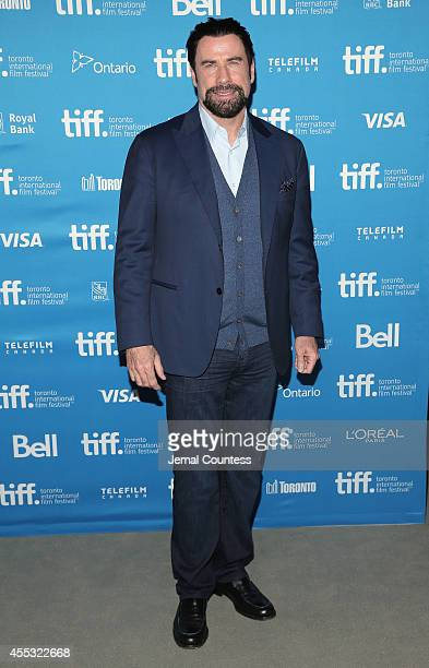 Actor John Travolta attends 'The Forger' Press Conference during the 2014 Toronto International Film Festival at TIFF Bell Lightbox on September 12...