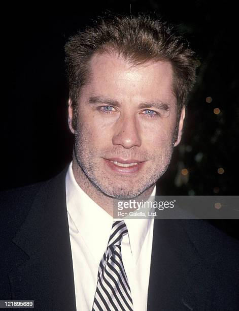 Actor John Travolta attends the Hollywood Entertainment Museum's Hollywood Legacy Awards on November 12 1994 at Hollywood Palladium in Hollywood...