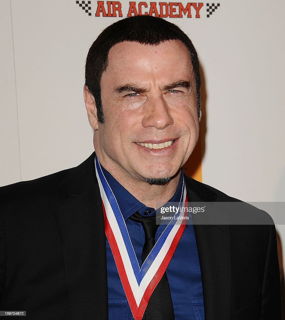 Actor John Travolta attends the Living Legends of Aviation Awards at The Beverly Hilton Hotel on January 18, 2013 in Beverly Hills, California.