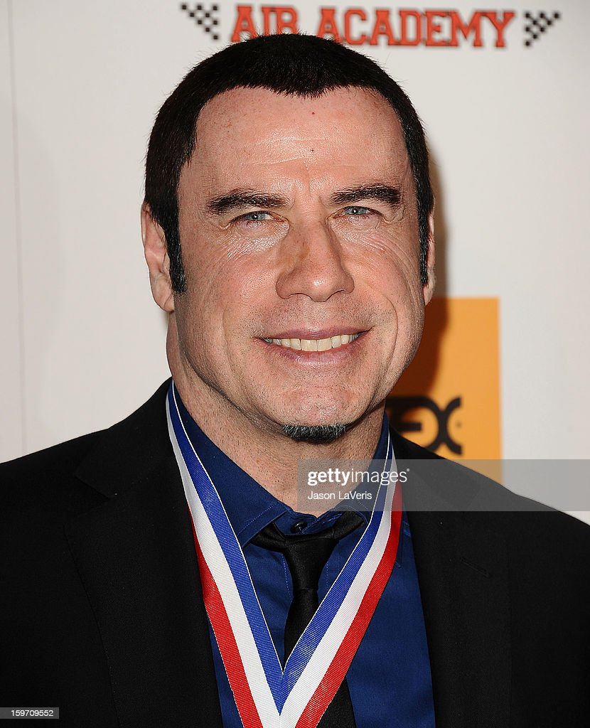 Actor <a gi-track='captionPersonalityLinkClicked' href=/galleries/search?phrase=John+Travolta&family=editorial&specificpeople=178204 ng-click='$event.stopPropagation()'>John Travolta</a> attends the Living Legends of Aviation Awards at The Beverly Hilton Hotel on January 18, 2013 in Beverly Hills, California.