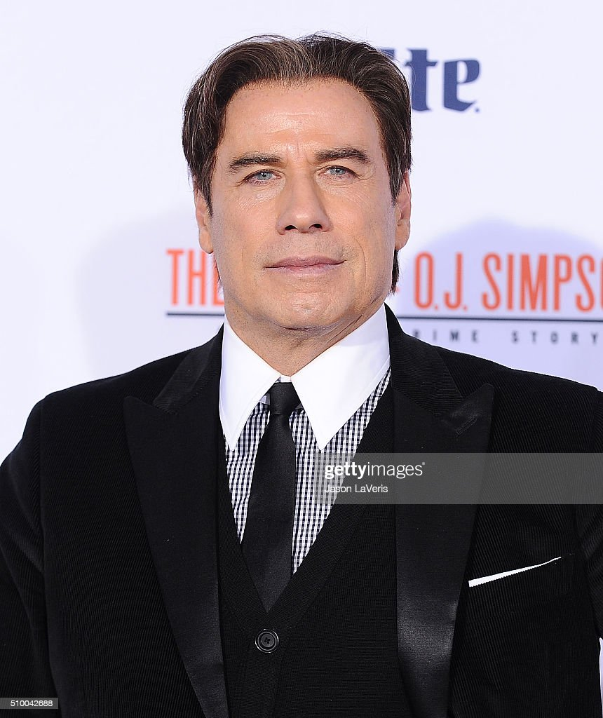 Actor <a gi-track='captionPersonalityLinkClicked' href=/galleries/search?phrase=John+Travolta&family=editorial&specificpeople=178204 ng-click='$event.stopPropagation()'>John Travolta</a> attends the premiere of 'American Crime Story - The People V. O.J. Simpson' at Westwood Village Theatre on January 27, 2016 in Westwood, California.