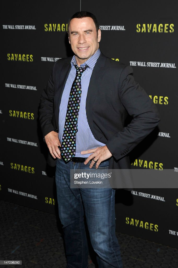 Actor <a gi-track='captionPersonalityLinkClicked' href=/galleries/search?phrase=John+Travolta&family=editorial&specificpeople=178204 ng-click='$event.stopPropagation()'>John Travolta</a> attends the 'Savages' New York premiere at SVA Theater on June 27, 2012 in New York City.