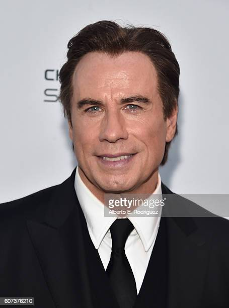 Actor John Travolta attends the Vanity and FX Annual Primetime Emmy Nominations Party at Craft Restaurant on September 17 2016 in Beverly Hills...