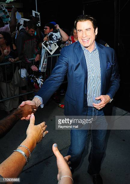 Actor John Travolta is seen outside 'Good Morning America'ABC Studios in Times Square on June 20 2013 in New York City