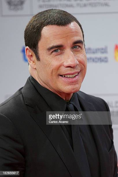 Actor John Travolta receives the 'Donosti' Lifetime Achievement Award at the Kursaal Palace during the 60th San Sebastian International Film Festival...