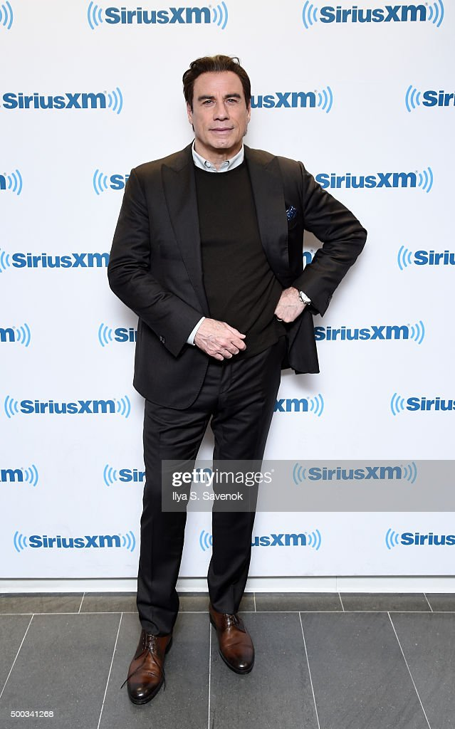 Actor <a gi-track='captionPersonalityLinkClicked' href=/galleries/search?phrase=John+Travolta&family=editorial&specificpeople=178204 ng-click='$event.stopPropagation()'>John Travolta</a> visits the SiriusXM Studios on December 7, 2015 in New York City.