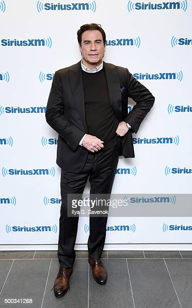 Actor John Travolta visits the SiriusXM Studios on December 7 2015 in New York City