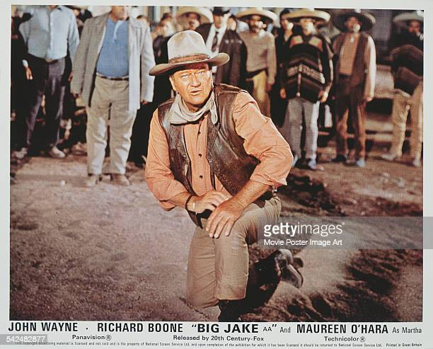 Actor John Wayne appears on the poster for the 20th Century Fox film 'Big Jake' 1971