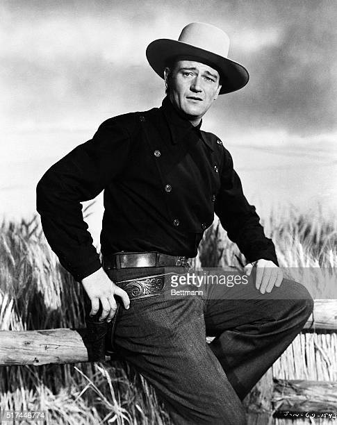 Actor John Wayne in western attire Undated publicity handout