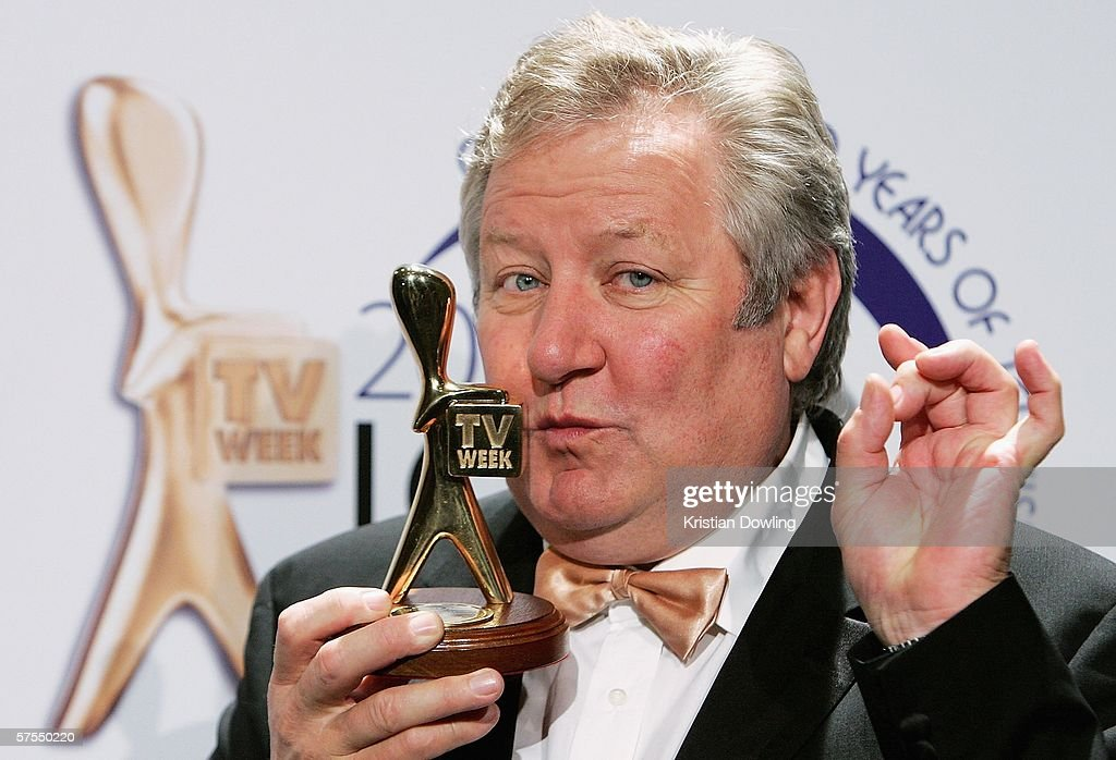 Actor John Wood poses with his Gold Logie in the media room at the 48th Annual TV Week Logie Awards at the Crown Entertainment Complex May 7 2006 in...