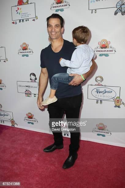 Actor Johnathon Schaech and Camden Quinn Schaech attend the WE ALL PLAY FUNdraiser hosted by the Zimmer Children's Museum at the Zimmer Children's...