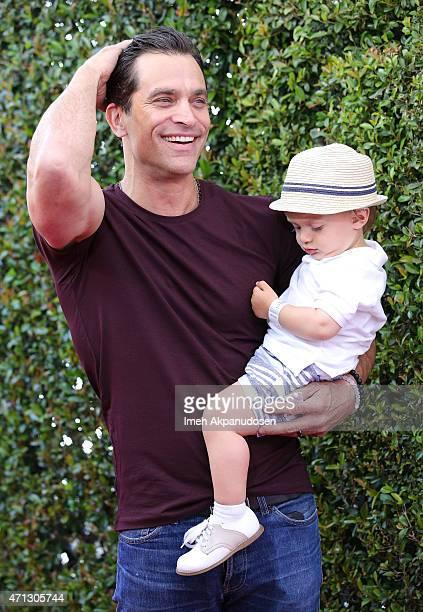 Actor Johnathon Schaech and his son Camden Schaech attend the 12th Annual John Varvatos Stuart House Benefit at John Varvatos on April 26 2015 in Los...