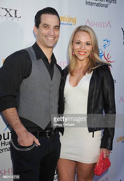 Actor Johnathon Schaech and Julie Solomon arrive at the Youth For Human Rights International Celebrity Benefit at Beso on March 24 2014 in Hollywood...
