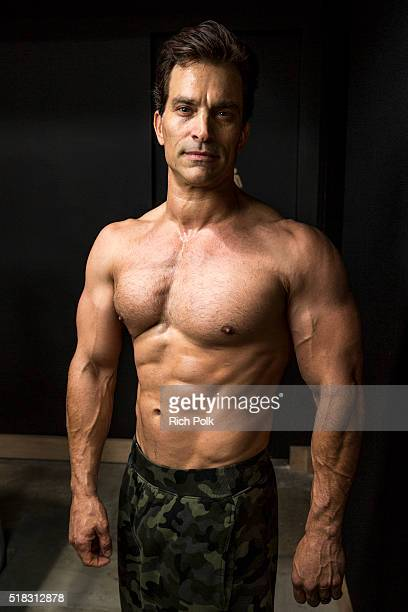 Actor Johnathon Schaech poses for a photo at Powerhouse Gym on March 30 2016 in Burbank California