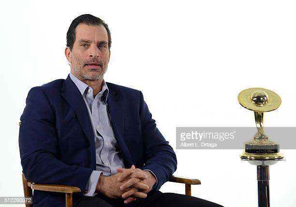 Actor Johnathon Schaech reads the Nominations for the 42nd Annual Saturn Awards held at Geek Nation Studios on February 11 2016 in Van Nuys California