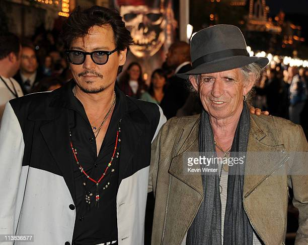 Actor Johnny Depp and actor/musician Keith Richards arrive at premiere of Walt Disney Pictures' 'Pirates of the Caribbean On Stranger Tides' held at...