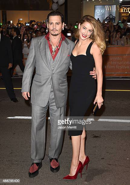 Actor Johnny Depp and Actress Amber Heard attend the 'Black Mass' premiere during the 2015 Toronto International Film Festival at The Elgin on...
