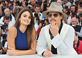 Actor Johnny Depp and actress Penelope Cruz attend the 'Pirates of the Caribbean On Stranger Tides' photocall at the Palais des Festivals during the...
