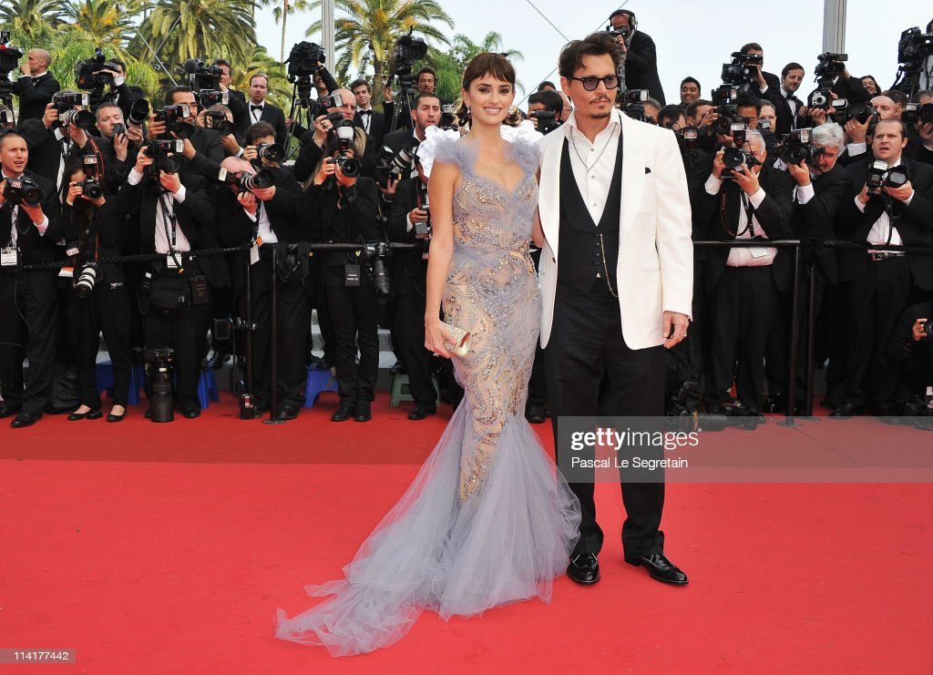 Actor Johnny Depp and actress Penelope Cruz attend the 'Pirates of the Caribbean: On Stranger Tides' premiere at the Palais des Festivals during the 64th Cannes Film Festival on May 14, 2011 in Cannes, France.