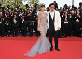 Actor Johnny Depp and actress Penelope Cruz attend the 'Pirates of the Caribbean On Stranger Tides' premiere at the Palais des Festivals during the...