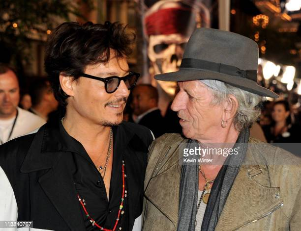Actor Johnny Depp and musician Keith Richards arrive at the premiere of Walt Disney Pictures' 'Pirates of the Caribbean On Stranger Tides' at...