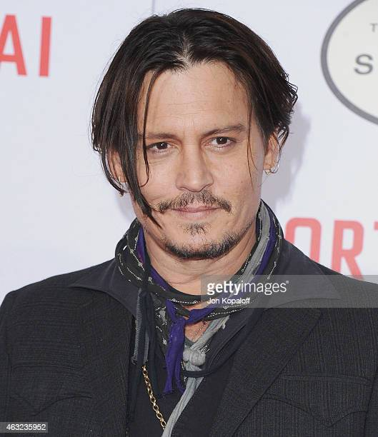 Actor Johnny Depp arrives at the Los Angeles Premiere Of 'Mortdecai' at TCL Chinese Theatre on January 21 2015 in Hollywood California