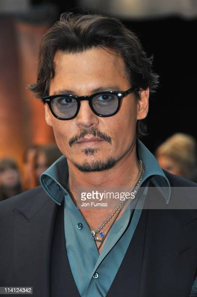 Actor Johnny Depp arrives for the UK Premiere of 'Pirates Of The Caribbean On Stranger Tides' at Vue Westfield on May 12 2011 in London England