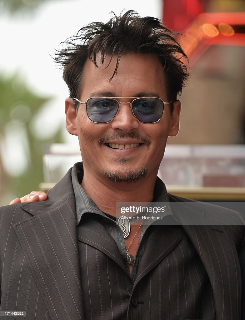 Actor <a gi-track='captionPersonalityLinkClicked' href=/galleries/search?phrase=Johnny+Depp&family=editorial&specificpeople=202150 ng-click='$event.stopPropagation()'>Johnny Depp</a> attends Legendary Producer Jerry Bruckheimer Hollywood Walk of Fame Star Ceremony on the Hollywood Walk of Fame on June 24, 2012 in Hollywood, California.