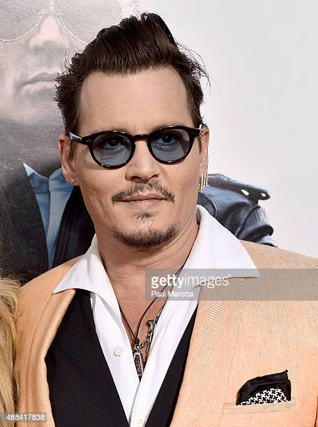 Actor Johnny Depp attends the 'Black Mass' Boston special screening at the Coolidge Corner Theatre on September 15 2015 in Boston Massachusetts