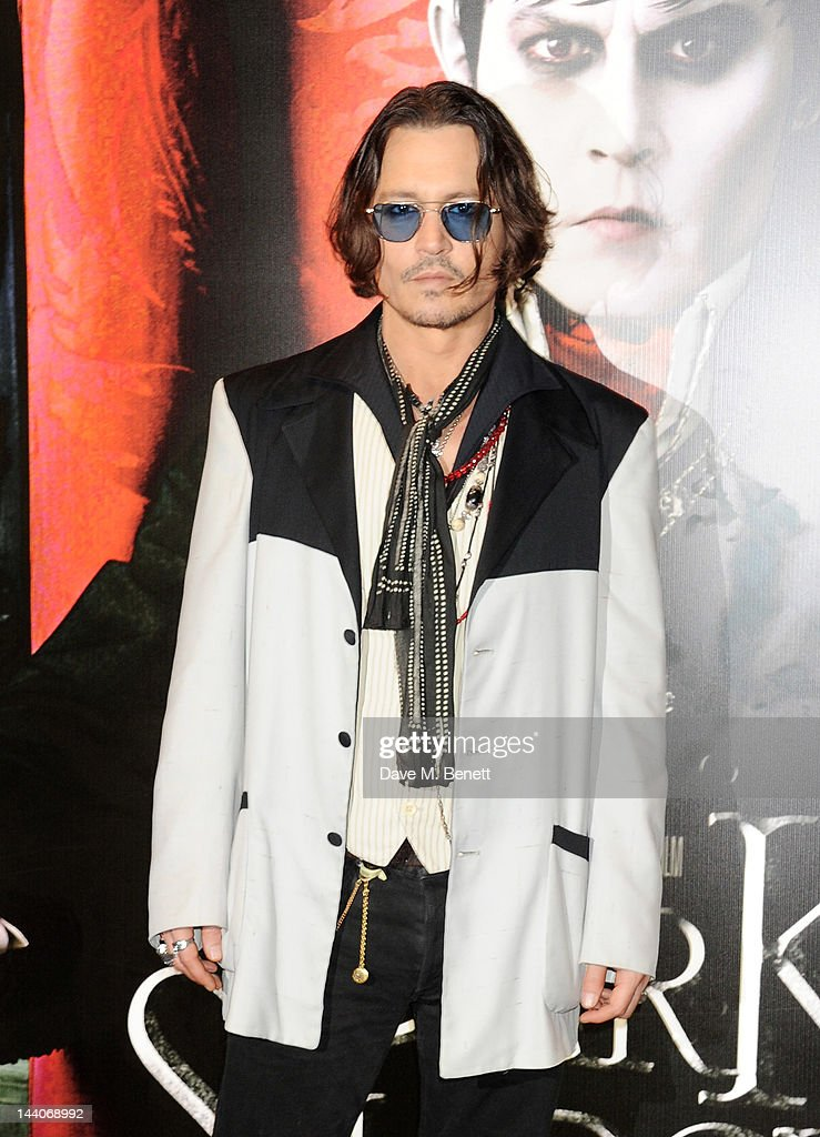 Actor <a gi-track='captionPersonalityLinkClicked' href=/galleries/search?phrase=Johnny+Depp&family=editorial&specificpeople=202150 ng-click='$event.stopPropagation()'>Johnny Depp</a> attends the European Premiere of 'Dark Shadows' at Empire Leicester Square on May 9, 2012 in London, England.