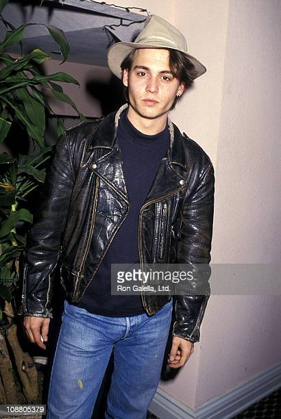 Actor Johnny Depp attends the FOX Television Stars Feed the Homeless on December 13 1987 at Sherman Oaks Galleria in Sherman Oaks California