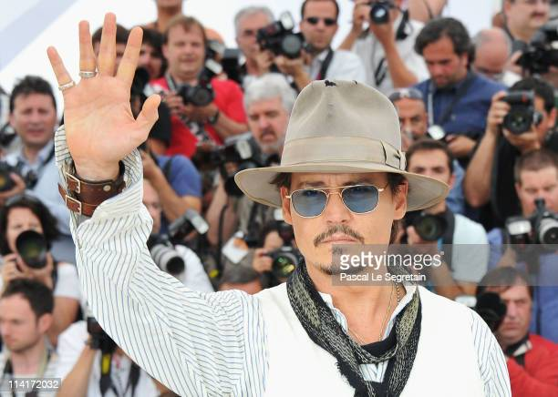 Actor Johnny Depp attends the 'Pirates of the Caribbean On Stranger Tides' photocall at the Palais des Festivals during the 64th Cannes Film Festival...