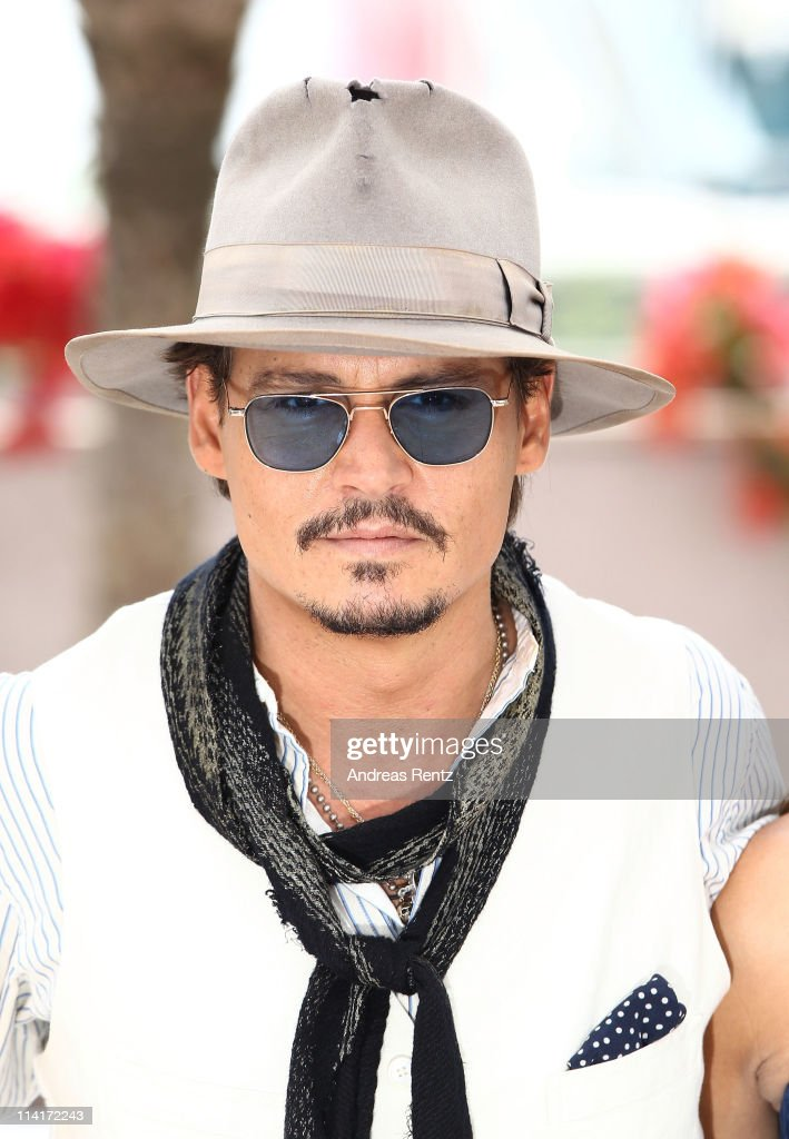 Actor <a gi-track='captionPersonalityLinkClicked' href=/galleries/search?phrase=Johnny+Depp&family=editorial&specificpeople=202150 ng-click='$event.stopPropagation()'>Johnny Depp</a> On Stranger Tides' photocall at the Palais des Festivals during the 64th Cannes Film Festival on May 14, 2011 in Cannes, France.