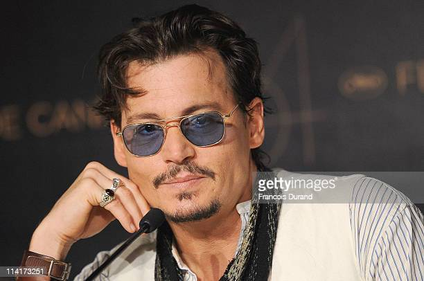Actor Johnny Depp attends the 'Pirates of the Caribbean On Stranger Tides' press conference at the Palais des Festivals during the 64th Cannes Film...