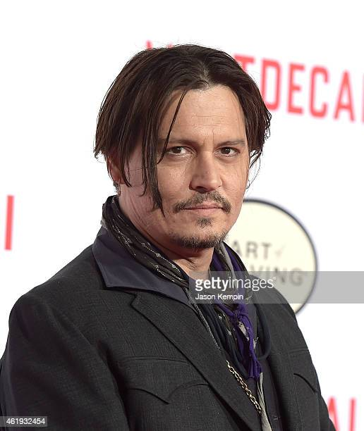 Actor Johnny Depp attends the premiere of Lionsgates's 'Mortdecai' at TCL Chinese Theatre on January 21 2015 in Hollywood California