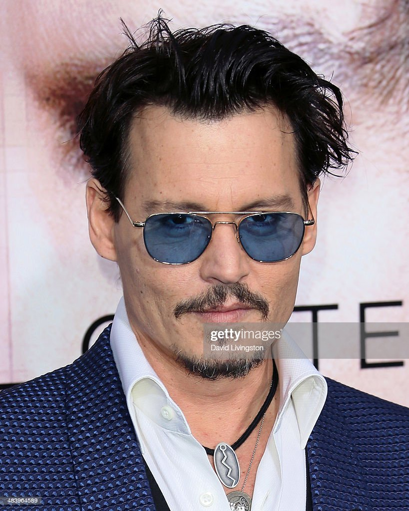 Actor <a gi-track='captionPersonalityLinkClicked' href=/galleries/search?phrase=Johnny+Depp&family=editorial&specificpeople=202150 ng-click='$event.stopPropagation()'>Johnny Depp</a> attends the premiere of Warner Bros. Pictures and Alcon Entertainment's 'Transcendence' at the Regency Village Theatre on April 10, 2014 in Westwood, California.