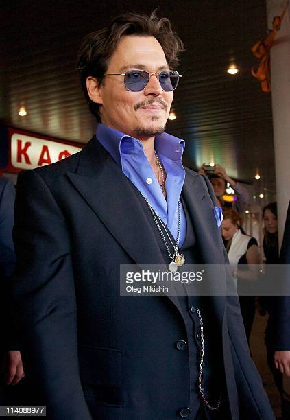 Actor Johnny Depp attends the Russian premiere of Pirates Of The Caribbean On Stranger Tides on May 11 2011 in Moscow Russia