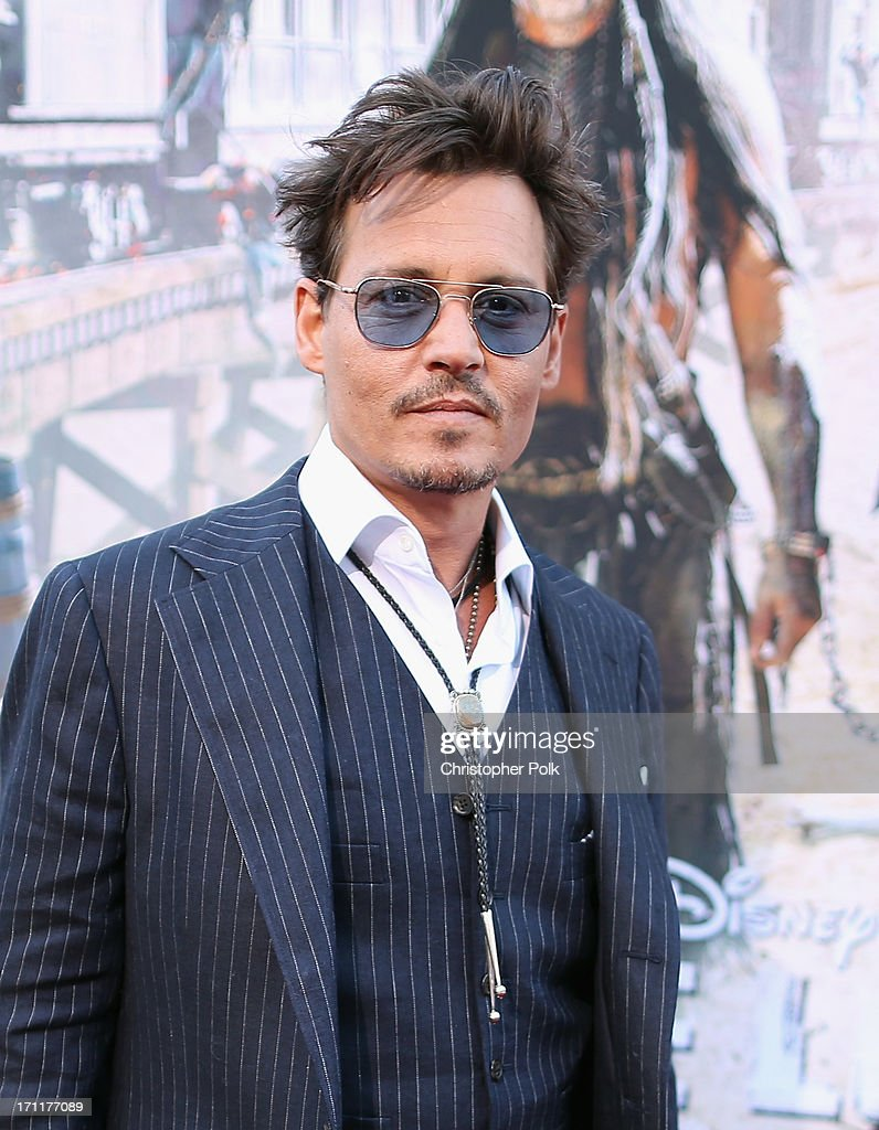 Actor <a gi-track='captionPersonalityLinkClicked' href=/galleries/search?phrase=Johnny+Depp&family=editorial&specificpeople=202150 ng-click='$event.stopPropagation()'>Johnny Depp</a> attends The World Premiere of Disney/Jerry Bruckheimer Films' 'The Lone Ranger' at Disney California Adventure Park on June 22, 2013 in Anaheim, California.