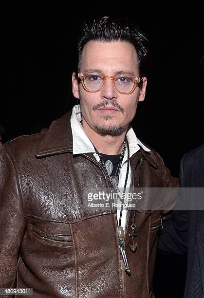 "Actor Johnny Depp attends Warner Bros Pictures' ""The Big Picture"" an Exclusive Presentation Highlighting the Summer of 2014 and Beyond during..."
