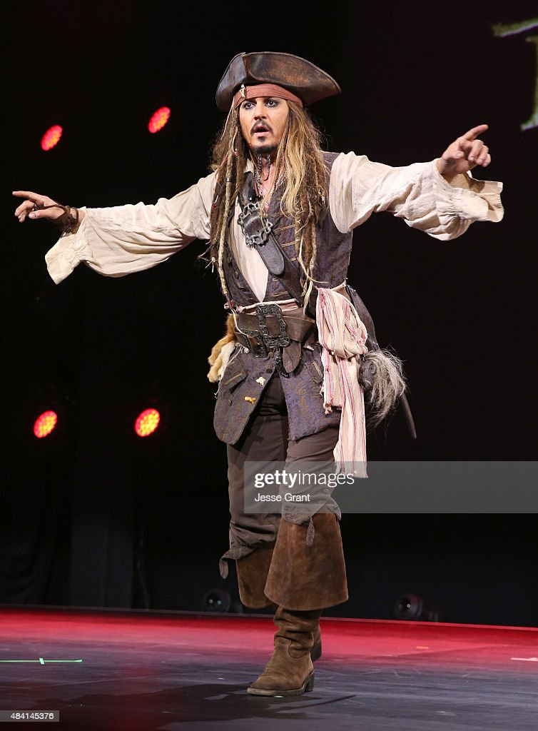 Actor Johnny Depp, dressed as Captain Jack Sparrow, of