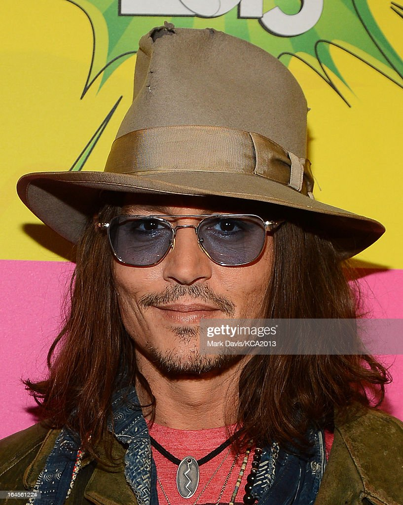 Actor Johnny Depp seen backstage at Nickelodeon's 26th Annual Kids' Choice Awards at USC Galen Center on March 23, 2013 in Los Angeles, California.
