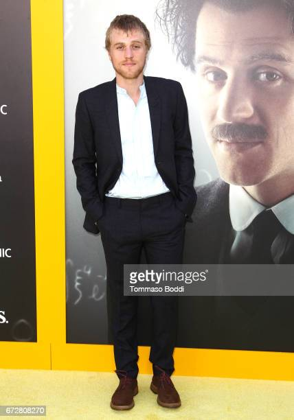 Actor Johnny Flynn attends the Los Angeles Premiere Screening of National Geographics 'Genius' the Fox Theater on April 24 2017 in Los Angeles...